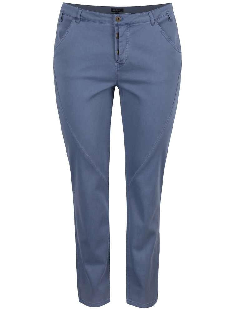 Pantaloni slim albastru deschis Ulla Popken