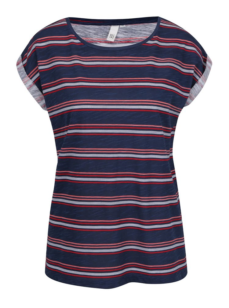b1811cd8d860 Oliver · Tmavě modré dámské pruhované tričko QS by s. Oliver