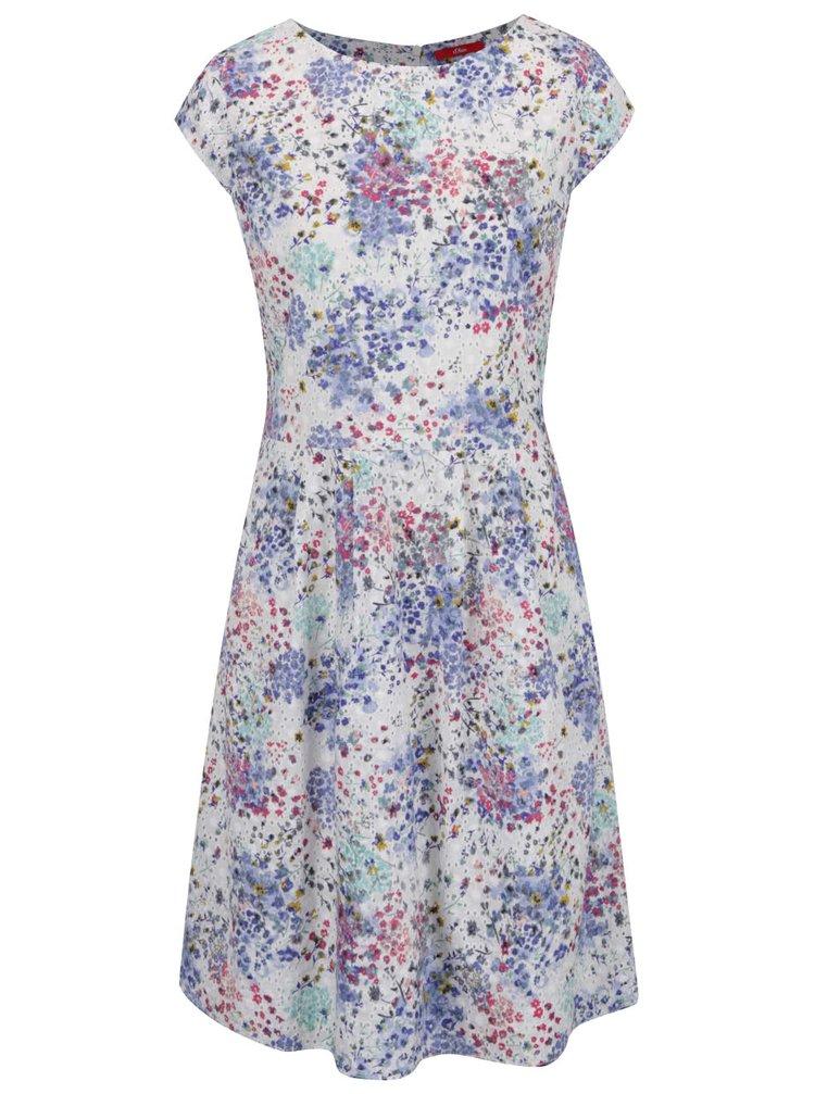 Bílé květované šaty s.Oliver