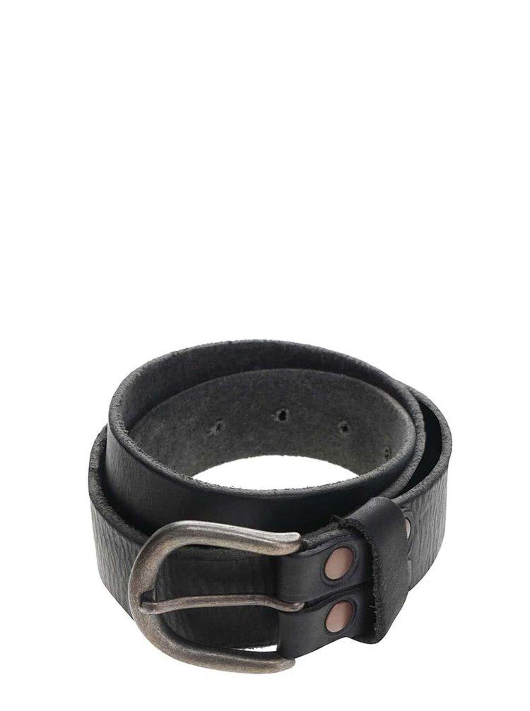 Černý pánský kožený vintage pásek Pepe Jeans Balsize