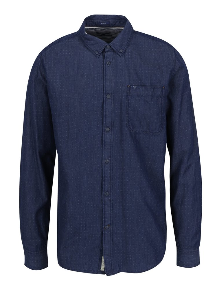 ... Tmavě modrá pánská košile Pepe Jeans Pagano 1cdba4c233