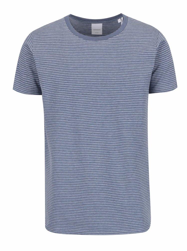 Modré pruhované triko s krátkým rukávem Lindbergh