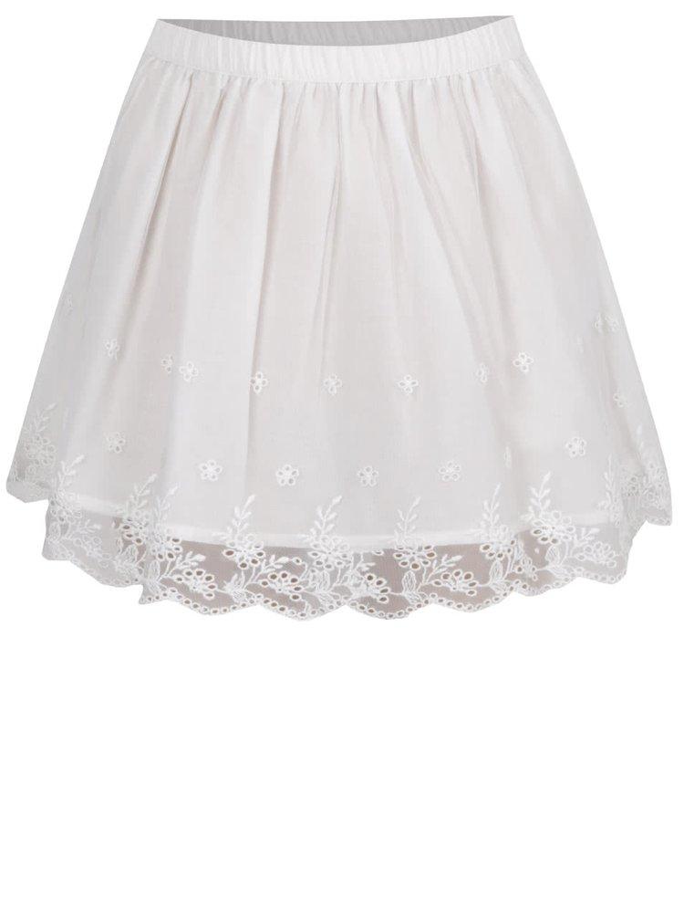 Krémová holčičí tylová sukně s krajkovým lemem 5.10.15.