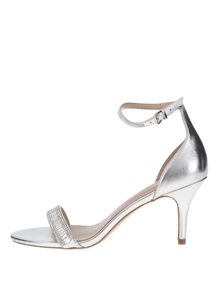 Sandale argintii ALDO Kaylla cu cataramă