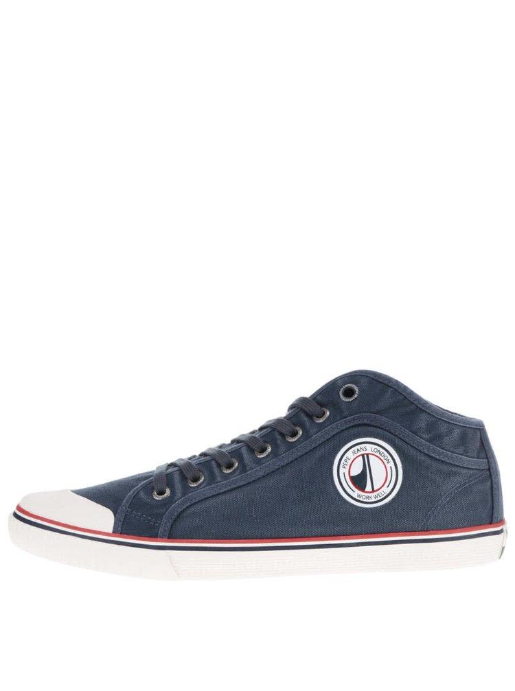 Tmavě modré pánské tenisky s logem Pepe Jeans Industry Road