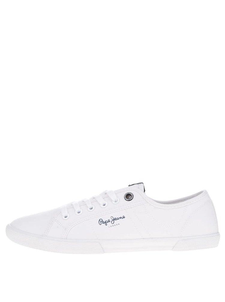 Pantofi sport albi  Pepe Jeans Aberman