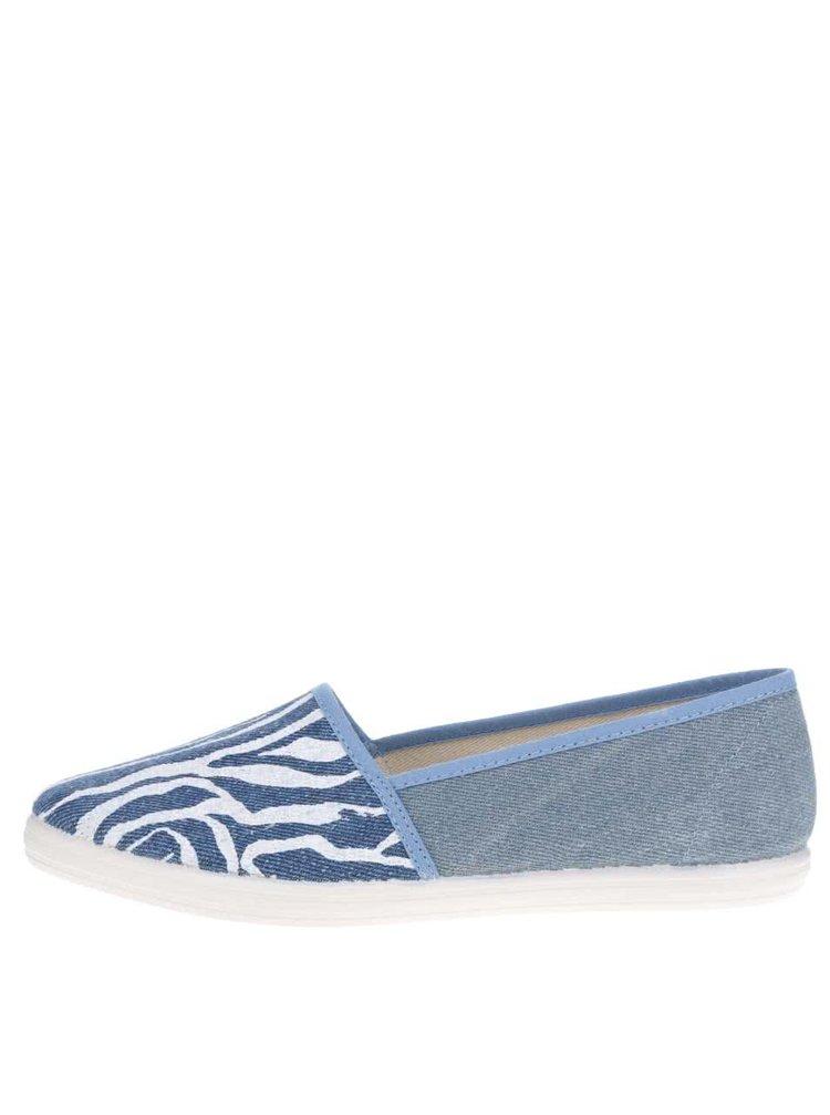 Modré dámské vzorované loafers OJJU