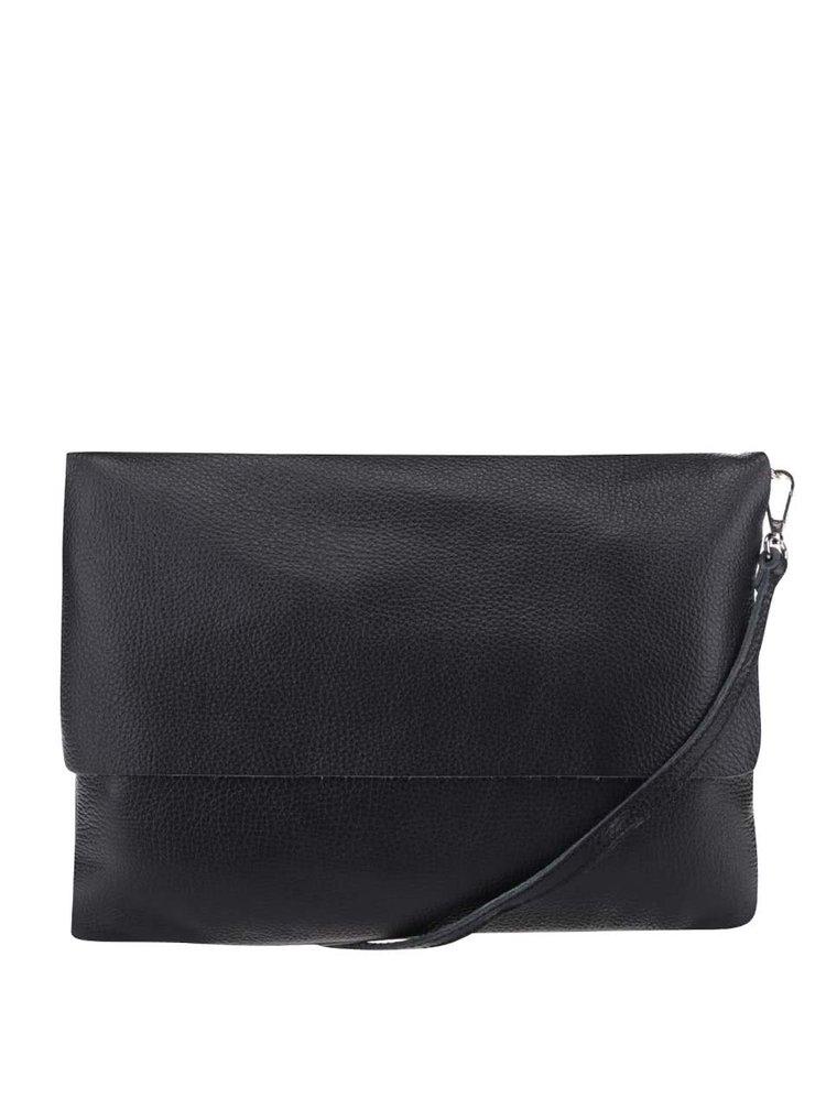 Černá kožená crossbody kabelka/psaníčko ZOOT