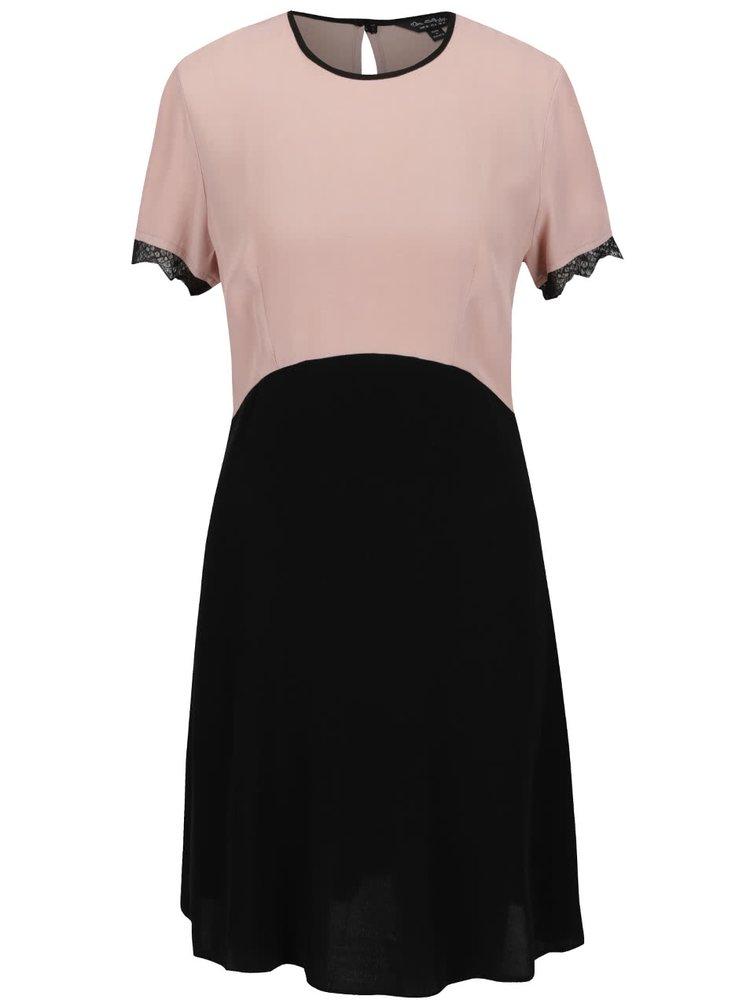 Rochie roz prăfuit & negru Miss Selfridge cu mâneci scurte