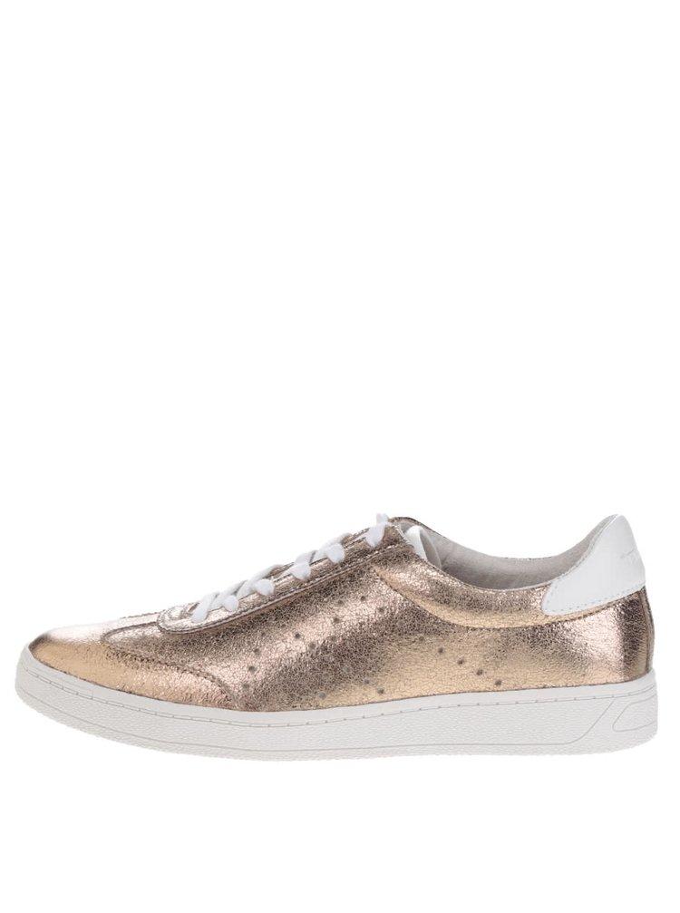 Pantofi sport aurii Tamaris