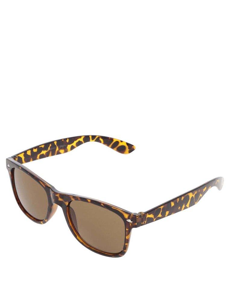 Hnedé vzorované slnečné okuliare ONLY Basic