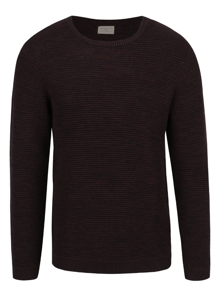 Bluza visinie Selected Homme New Vince din jerseu