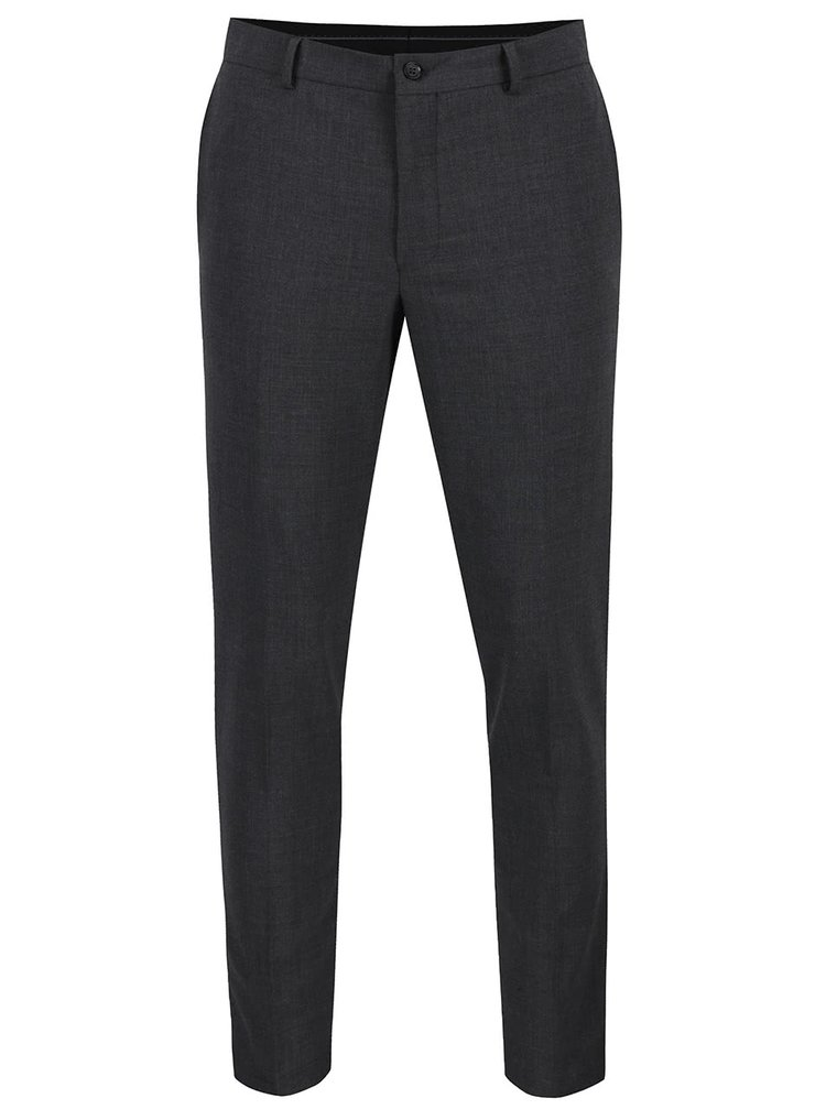 Tmavě šedé oblekové kalhoty Jack & Jones Wayne