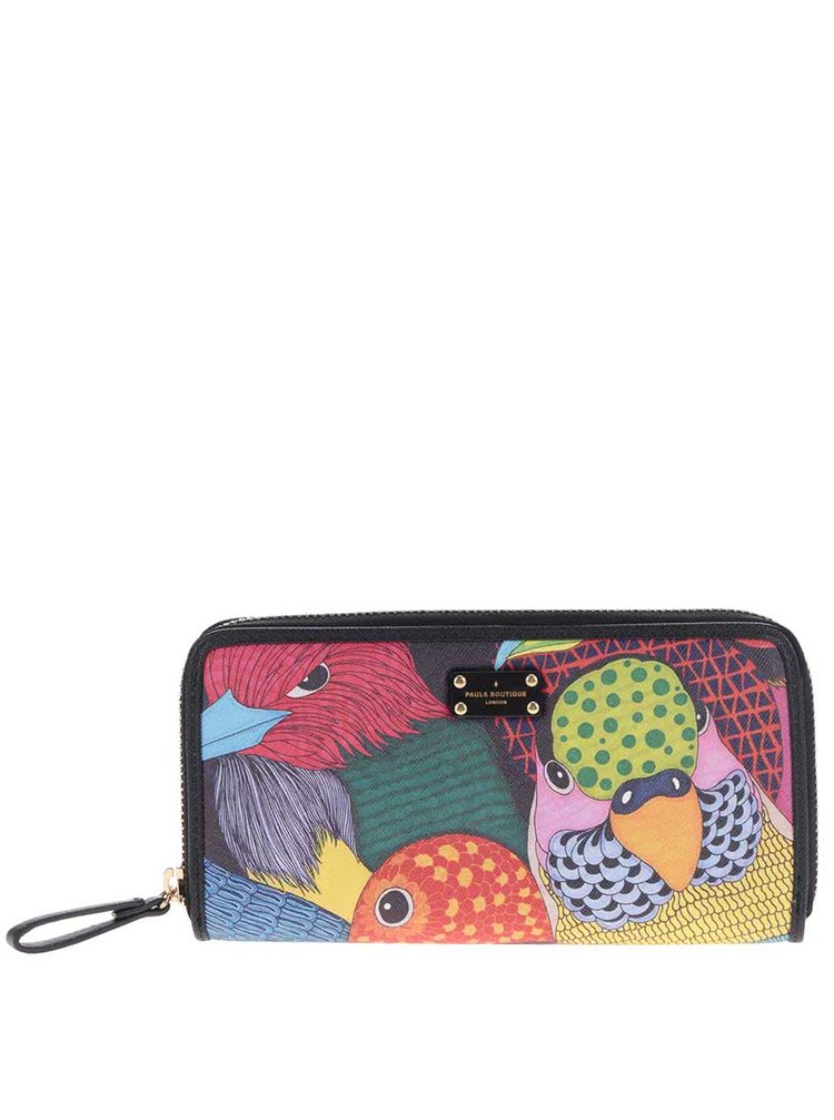 Černá peněženka na zip s barevným potiskem Paul's Boutique Lizzie