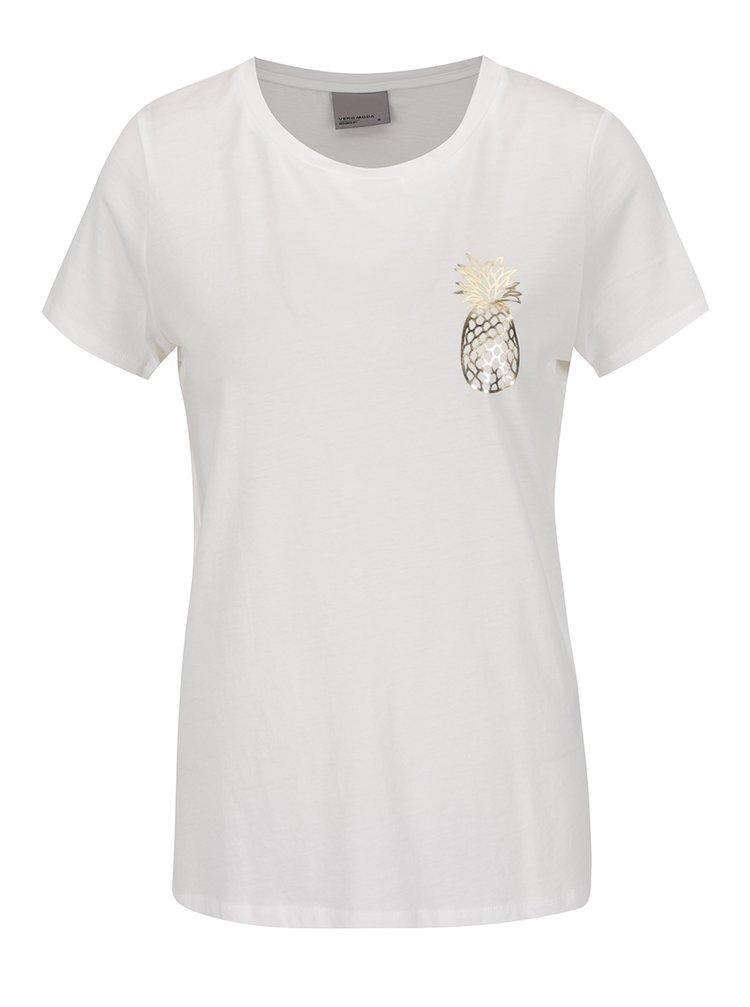 Tricou alb VERO MODA Molly cu imprimeu