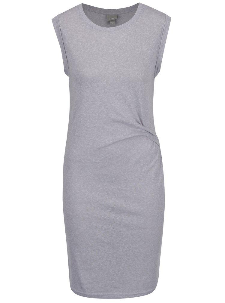 Světle šedé žíhané šaty bez rukávů Bench