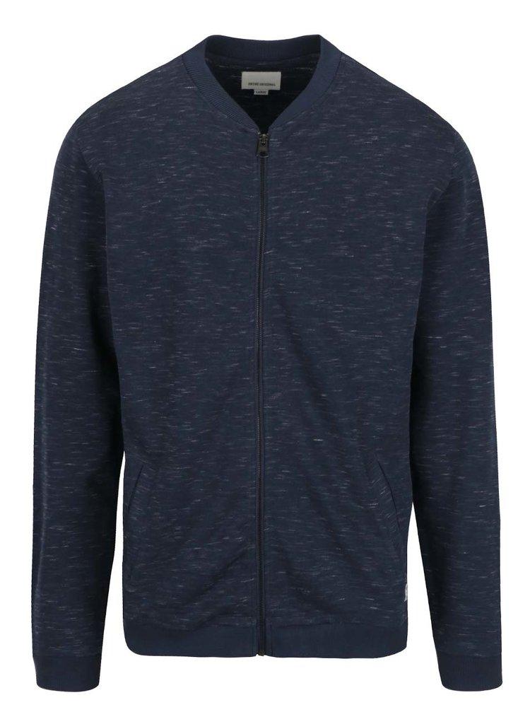 Bluză sport albastru melanj Shine Original cu fermoar