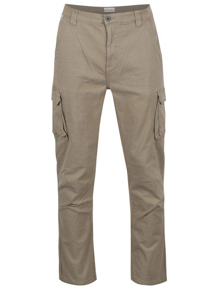 Pantaloni cargo bej Shine Original cu buzunare laterale
