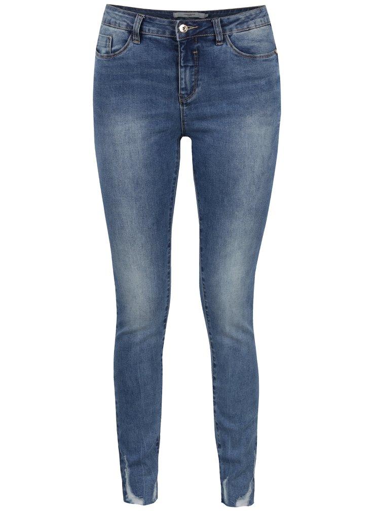 Modré slim džíny s jemně potrhaným efektem VERO MODA Seven