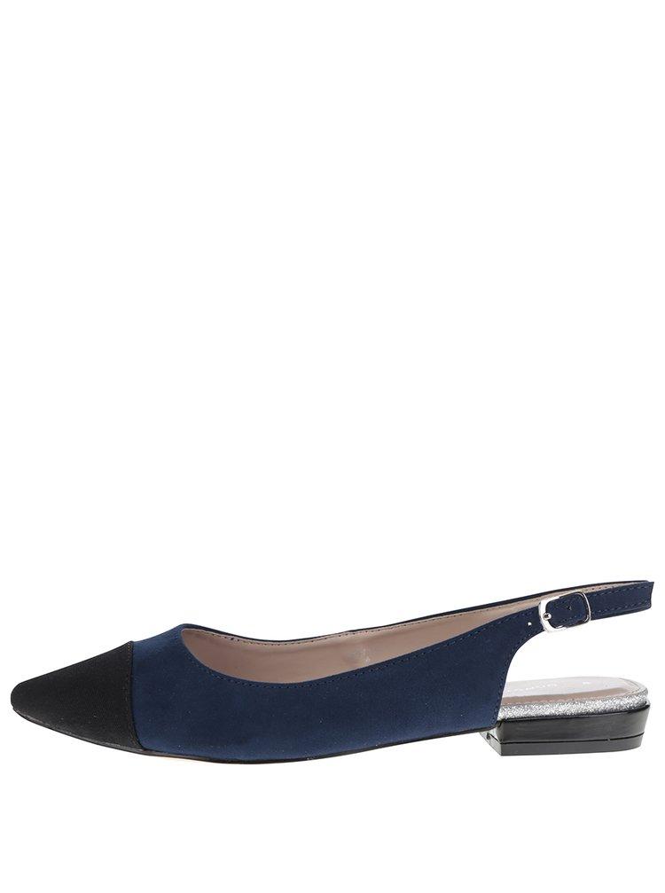 Sandale albastre Dorothy Perkins cu varf alungit