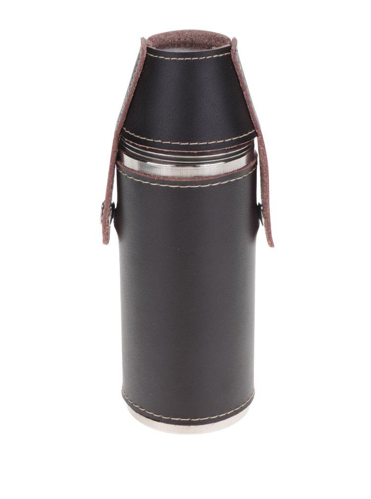 Sticlă neagră Kikkerland cu pahare