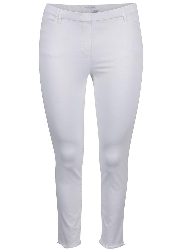 Bílé zkrácené džíny Gina Laura