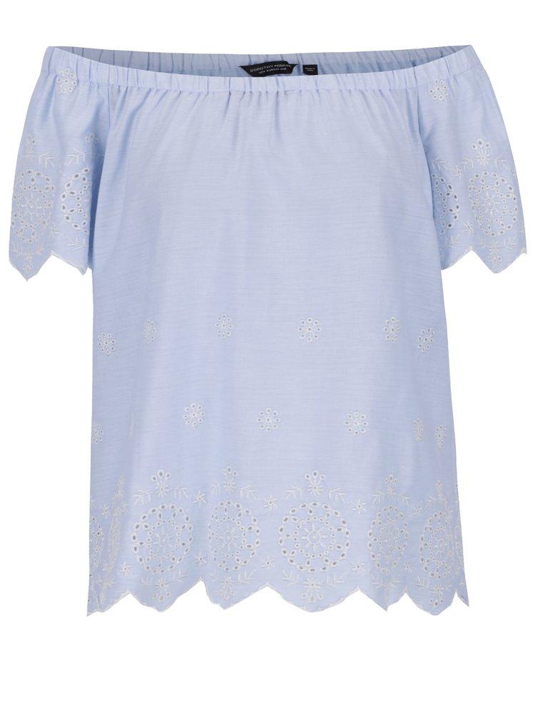 Top bleu Dorothy Perkins din bumbac
