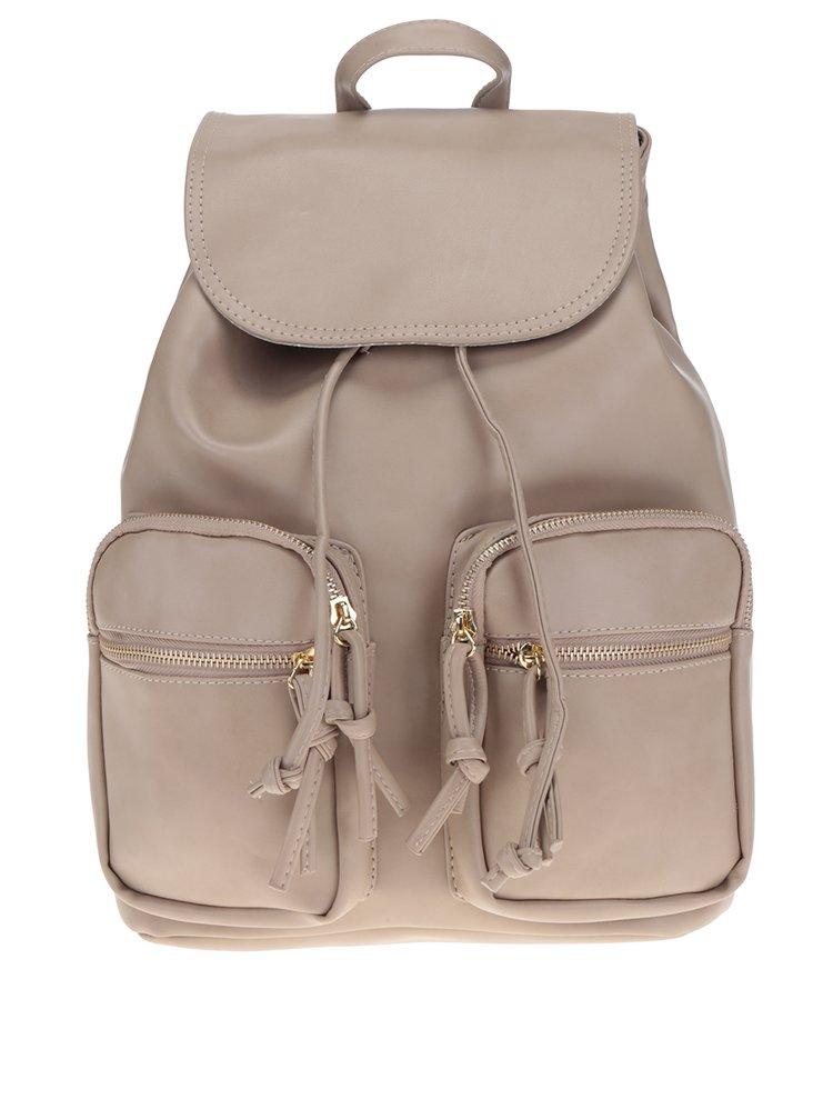 Béžový dámský batoh s detaily ve zlaté barvě ZOOT