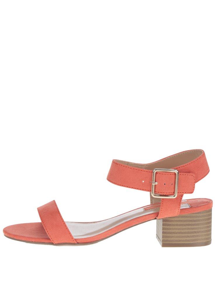 Oranžové sandálky v semišové úpravě Dorothy Perkins