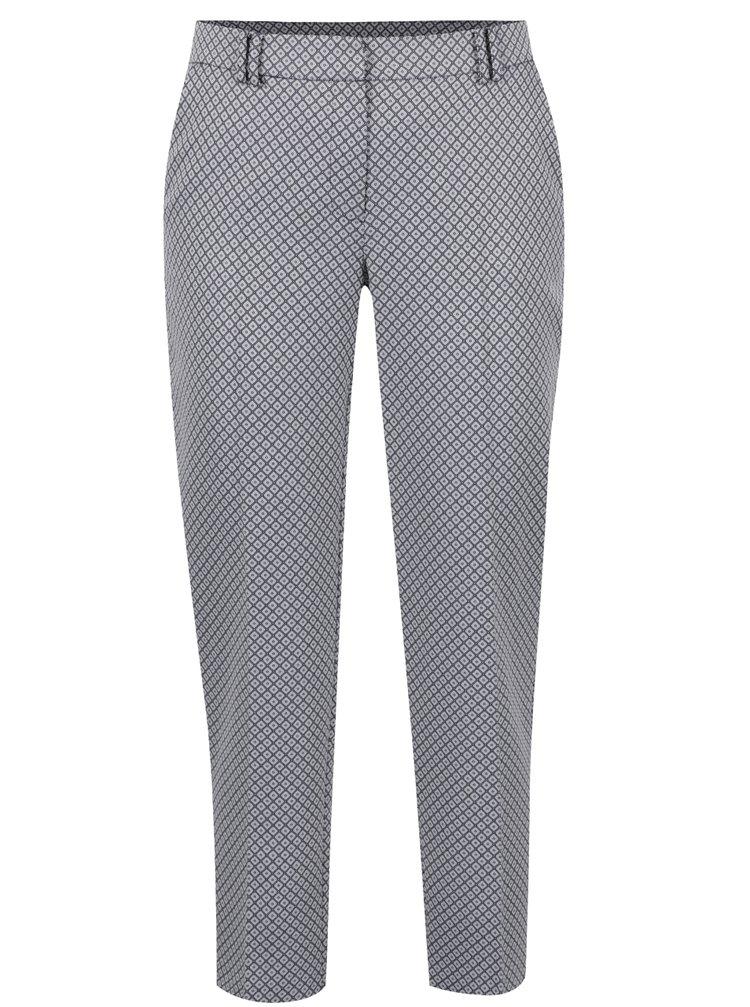 Pantaloni alb&albastru Dorothy Perkins cu romburi