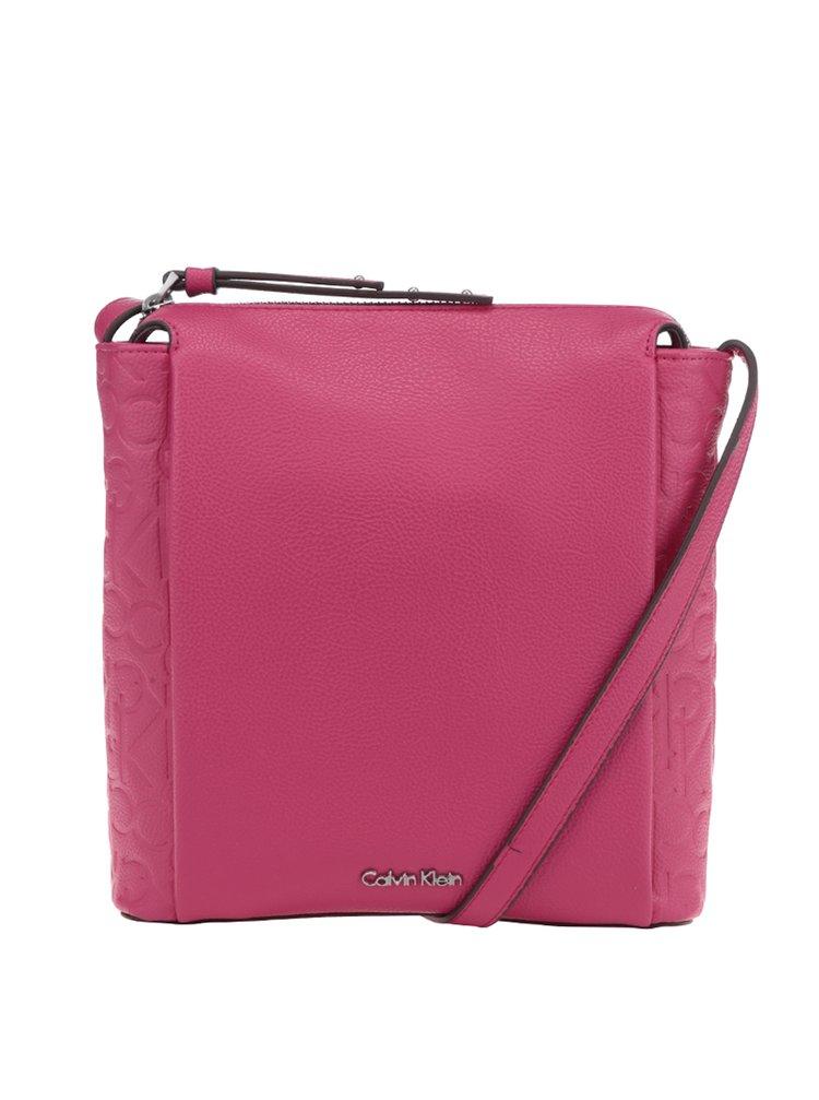 Růžová crossbody kabelka Calvin Klein Jeans Misha