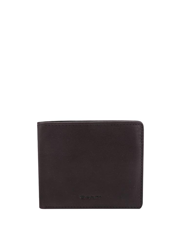 Tmavě hnědá pánská kožená peněženka GANT