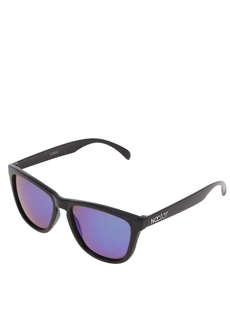 2c02c176e Čierne pánske slnečné okuliare s modrými sklami Nectar Wayfarer ...