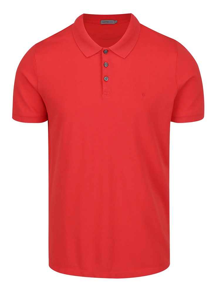 Červené pánské polo tričko Calvin Klein Jeans Paul
