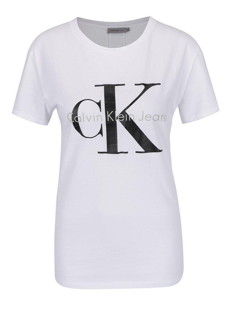 e004384d6 Biele dámske tričko Calvin Klein Jeans Shrunken | ZOOT.sk