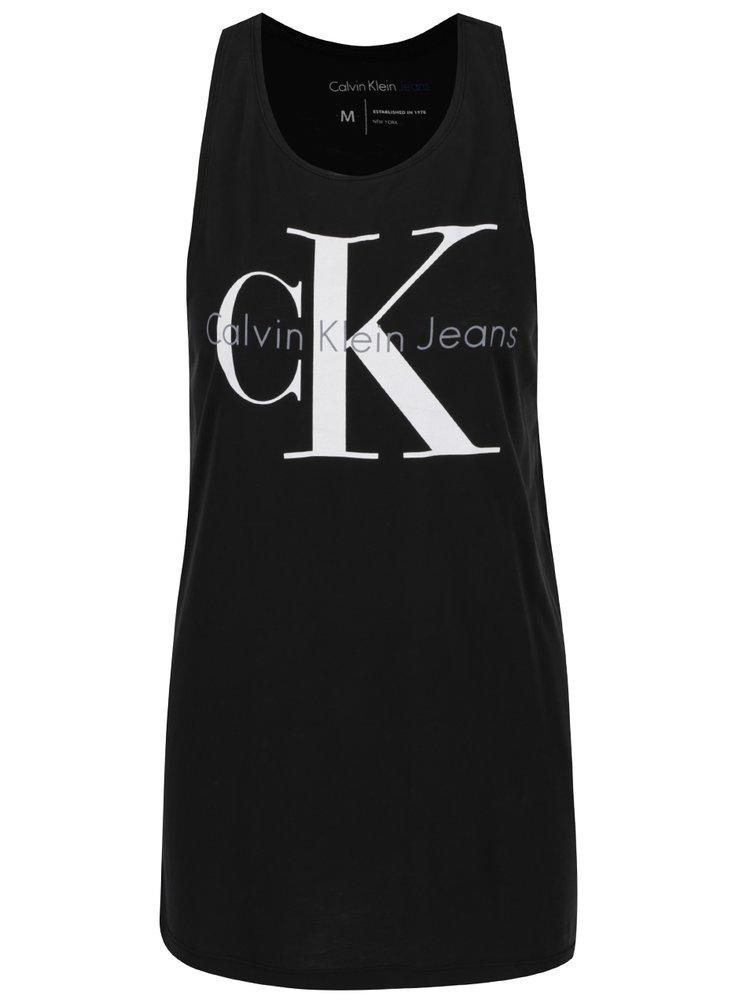3f830cb8d Čierne dámske dlhé tielko s potlačou Calvin Klein Jeans Tyler | ZOOT.sk