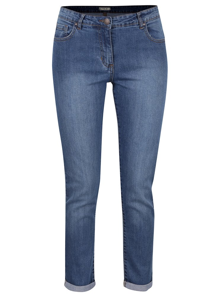 Blugi albaștri M&Co cu croi drept și aspect prespălat