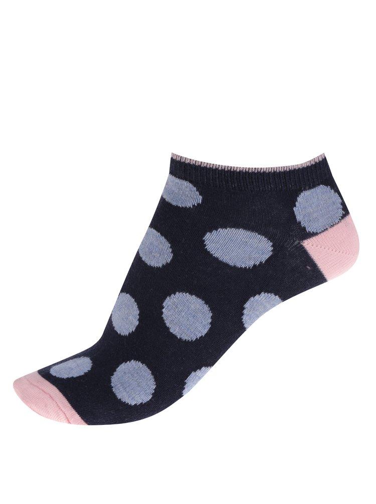 c96093e8c3a03 ... Súprava piatich párov dámskych vzorovaných ponožiek v modrej farbe M&Co