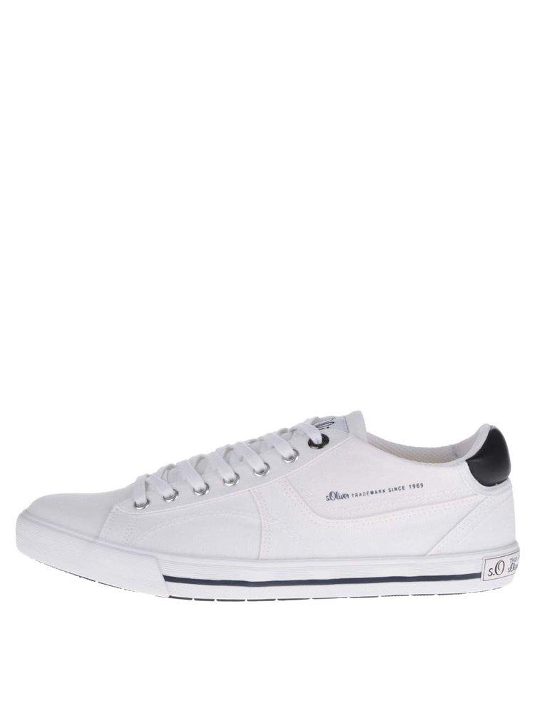 Pantofi sport albi s.Oliver cu logo