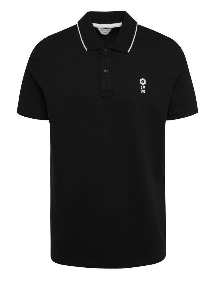 Černé polo tričko Jack & Jones Stone