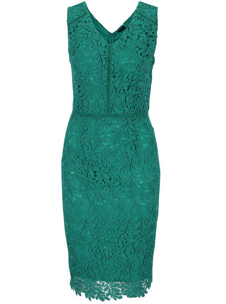 Rochie verde M&Co din dantelă