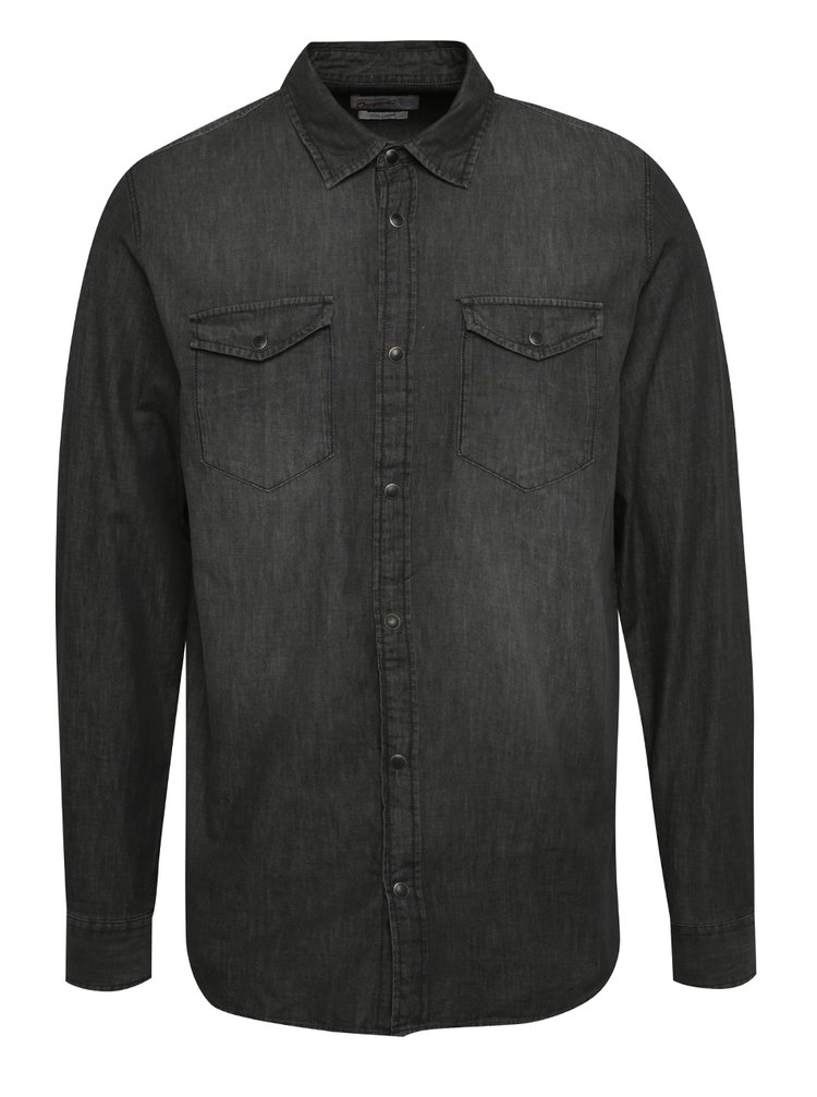 Camasa gri inchis  Jack & Jones One din denim