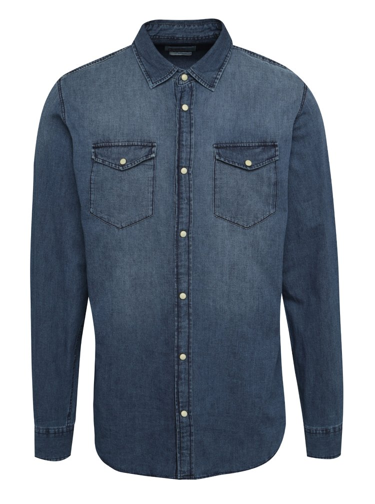Cămașă albastru închis  Jack & Jones One din denim