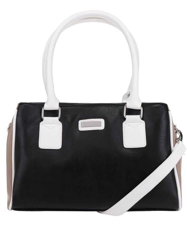 Hnědo-černá kabelka do ruky M&Co