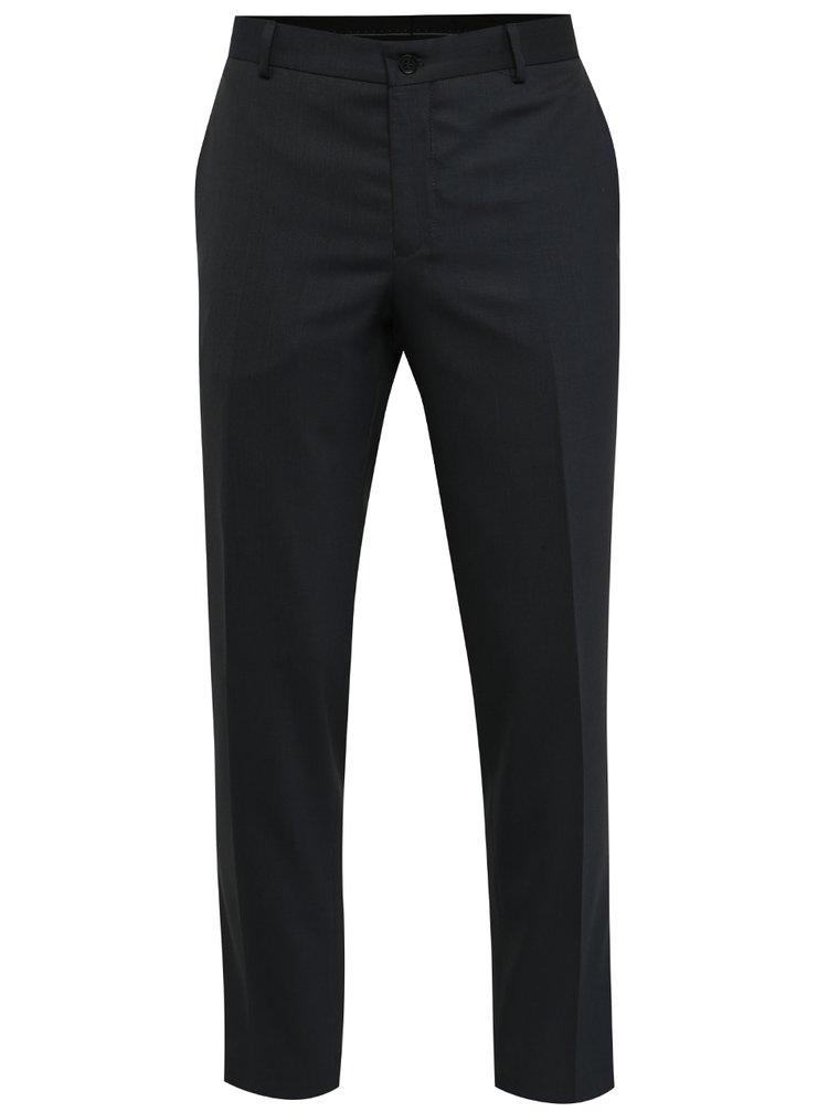 Tmavě modré oblekové kalhoty Jack & Jones Wayne