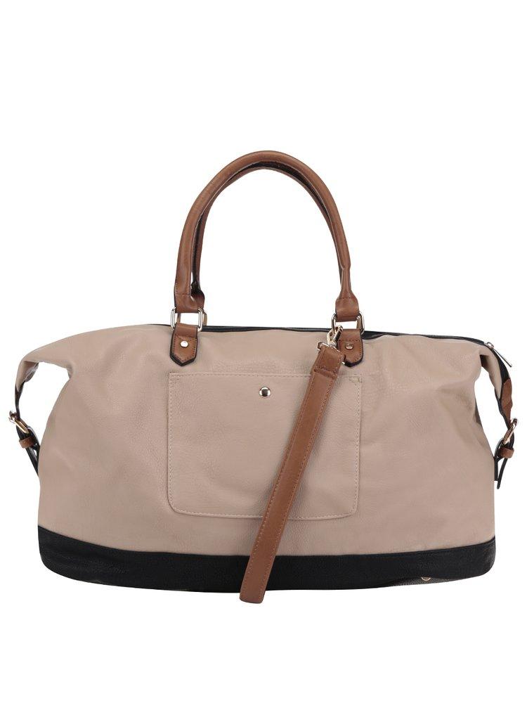 Černo-béžová velká kabelka do ruky M&Co