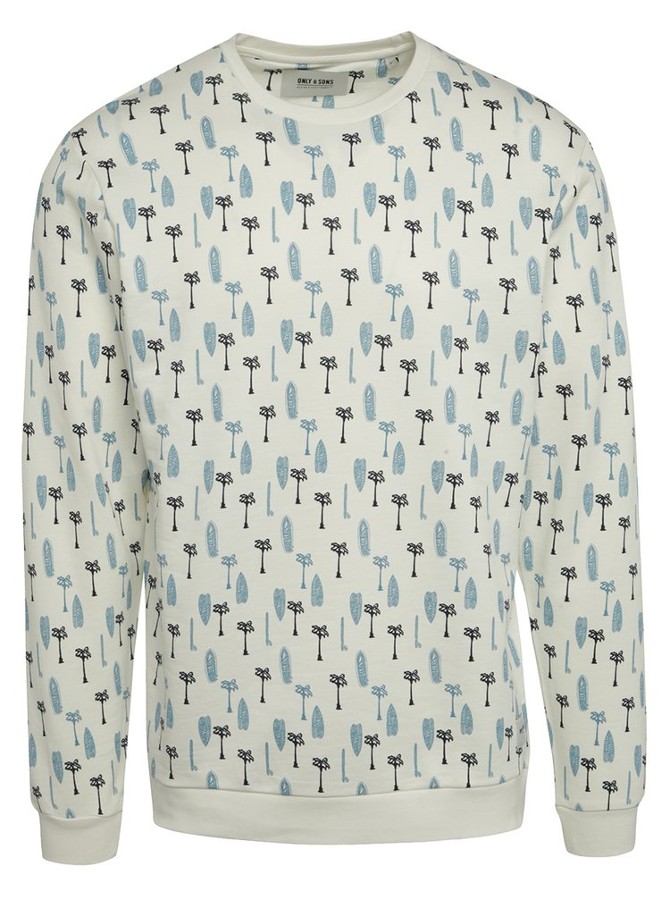 Bluză sport crem ONLY & SONS Larry cu imprimeu