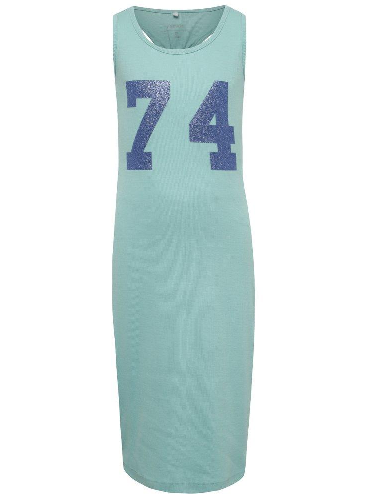 Modré holčičí žebrované šaty name it Jaxi