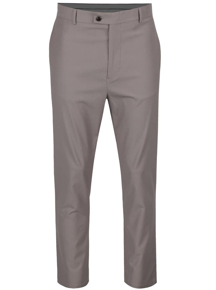 Pantaloni bej Burton Menswear London cu model discret