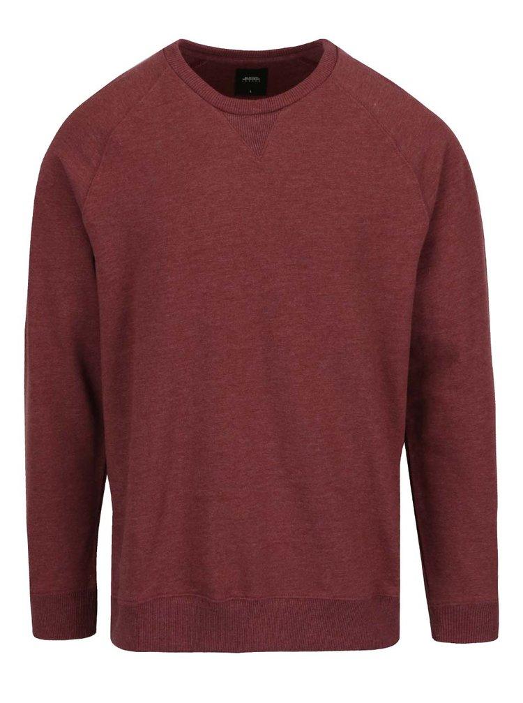 Bluză vișinie Burton Menswear London cu terminații elastice